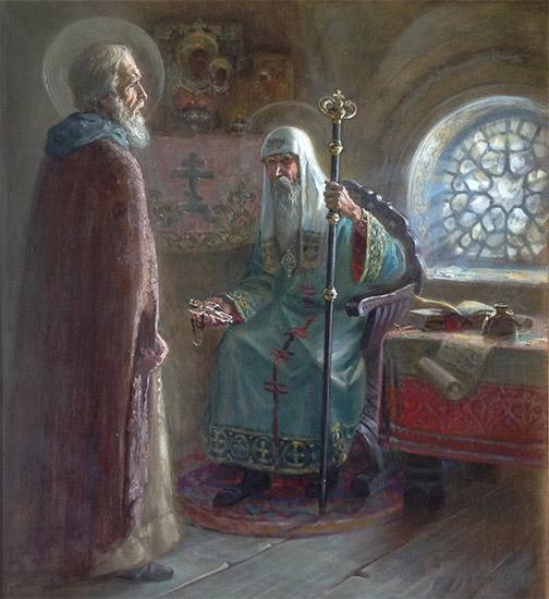 Митрополит Алексий и преподобный Сергий Радонежский