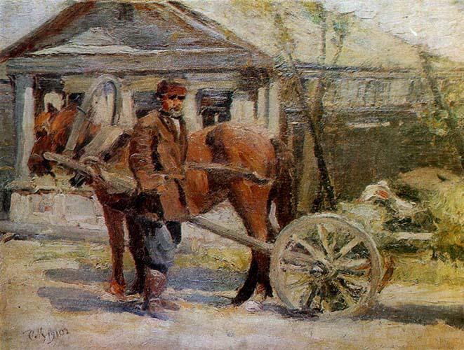 Мужчина рядом с лошадью