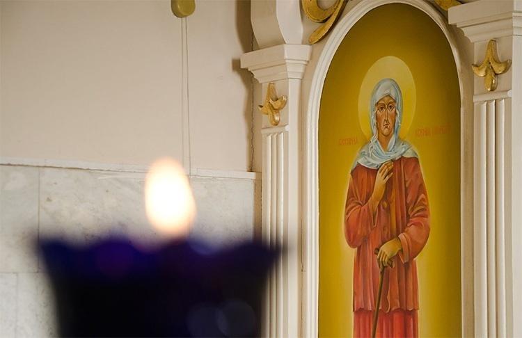 Образ блаженной Ксении Петербургской в храме