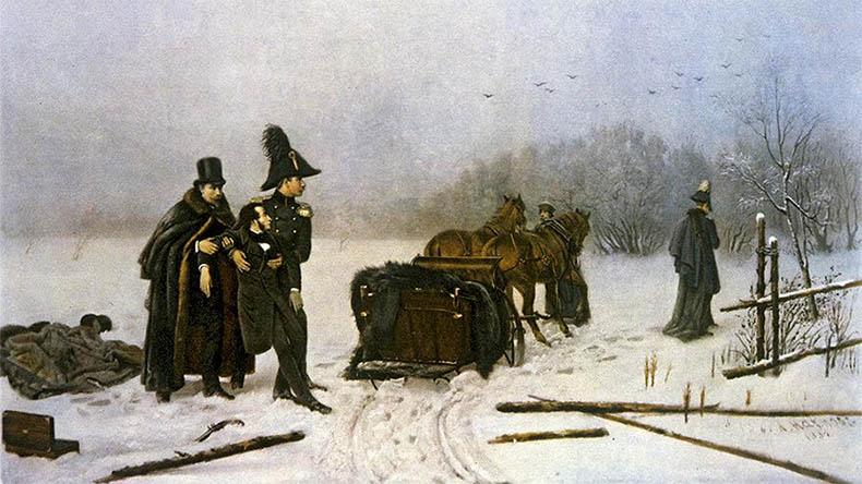После дуэли Пушкина с Дантесом