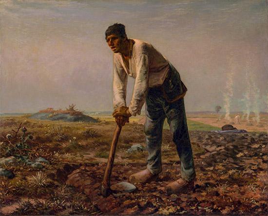 Работает в поле