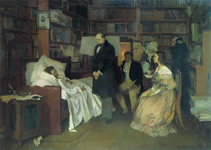 Умирающий Пушкин в квартире на Мойке