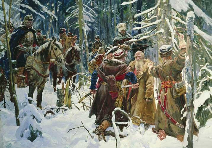Иван Сусанин и отряд поляков