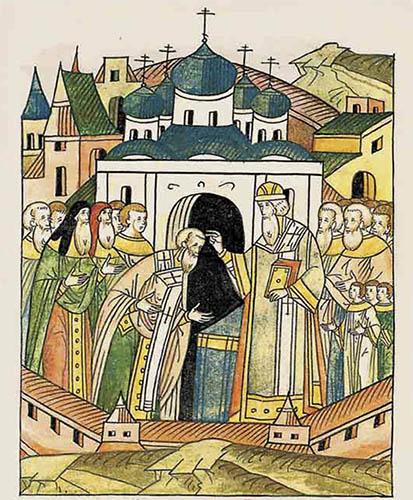 Поставление Серапиона епископом Новгородским