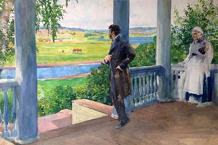 Александр Пушкин в Михайловском