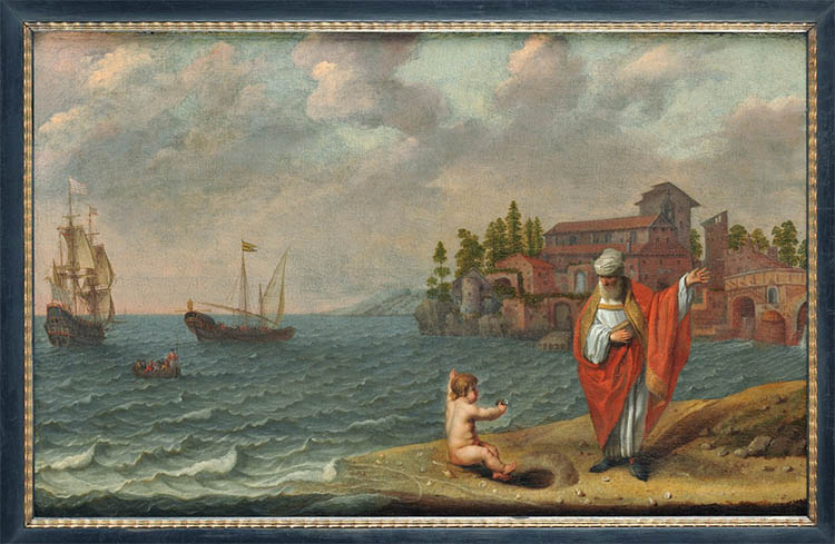Блаженный Августин и мальчик у моря