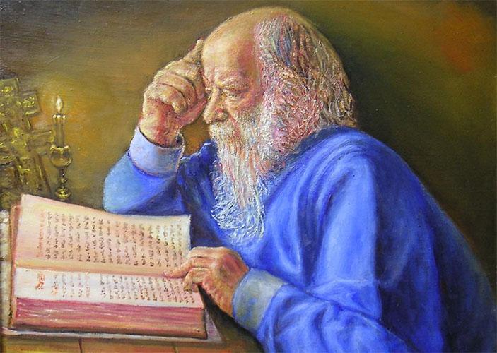 Читает Священное Писание