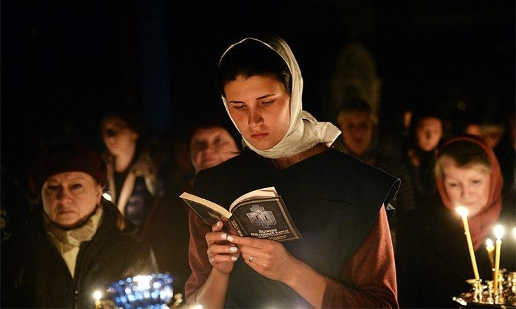 Чтение Великого покаянного канона cвятого Андрея Критского