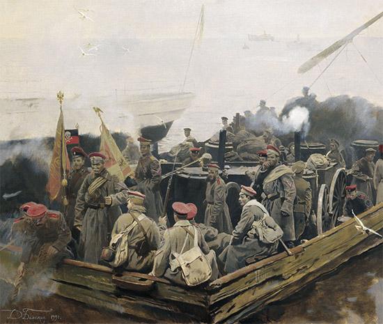 Эвакуация дроздовцев и корниловцев