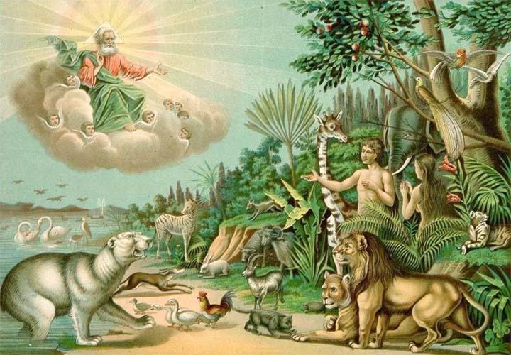 Господь Бог, Адам и Ева