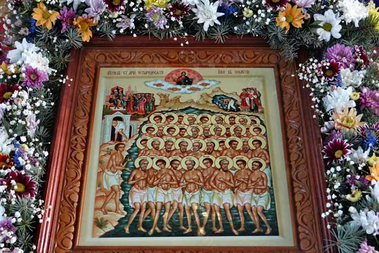 Икона сорока мучеников Севастийских в храме