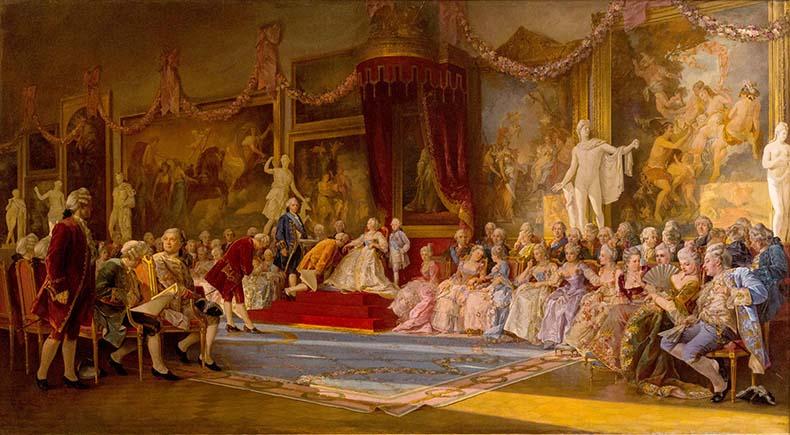 Инаугурация Императорской Академии художеств