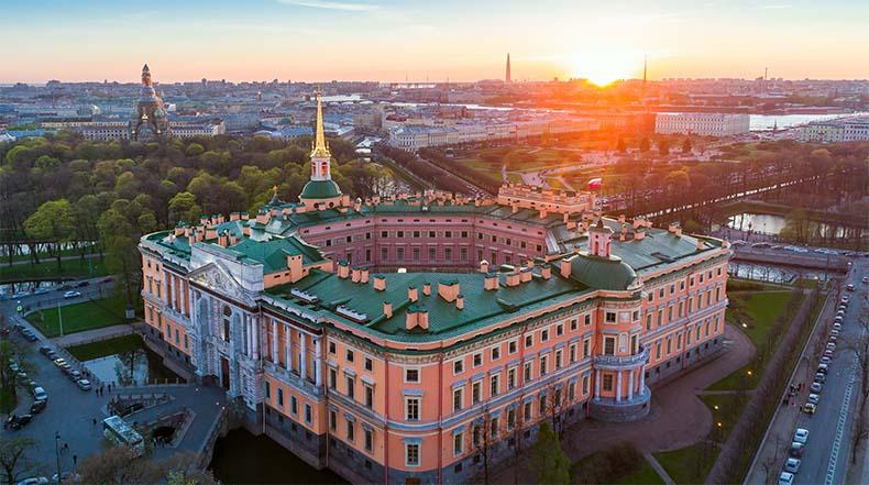 Михайловский замок с высоты