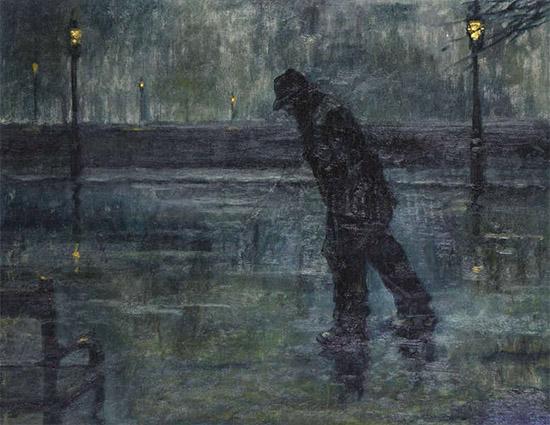 Мужчина ночью на улице