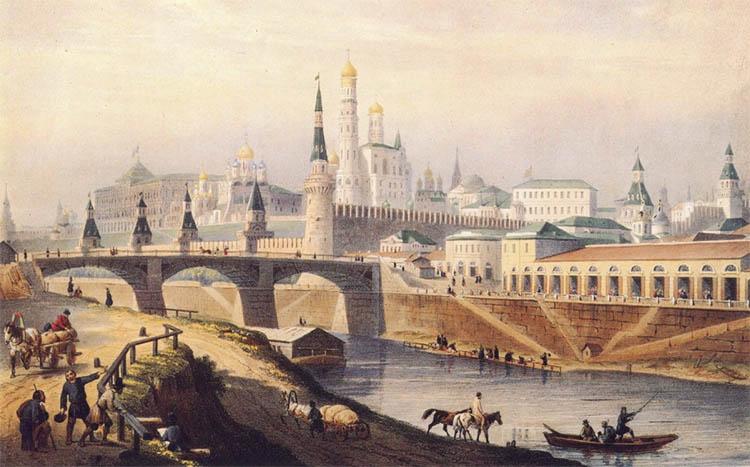 Общий вид московского Кремля