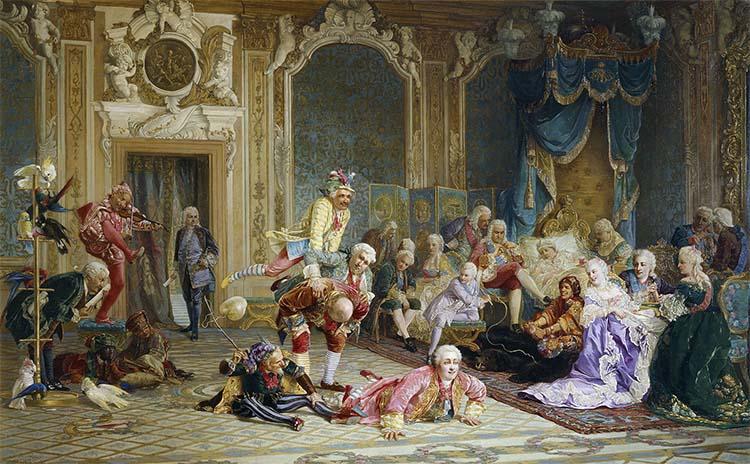 При дворе императрицы Анны Иоанновны (Тредиаковский изображен крайним слева)