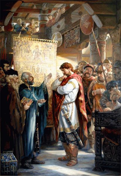 Равноапостольный князь Владимир Великий выбирает веру