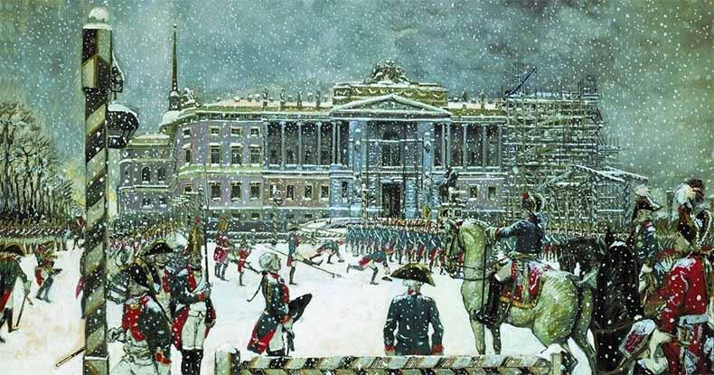 Строительство Михайловского замка