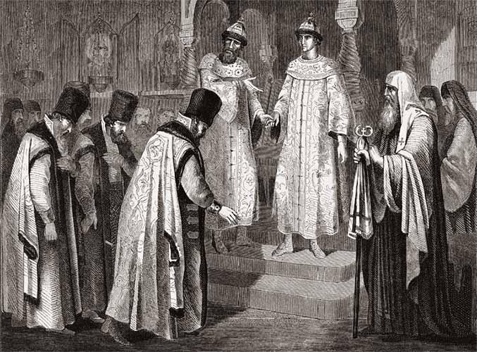 Василий II Темный с наследником Иоанном