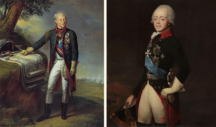 Александр Суворов и Павел I