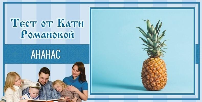 Ананас. Тест Кати Романовой
