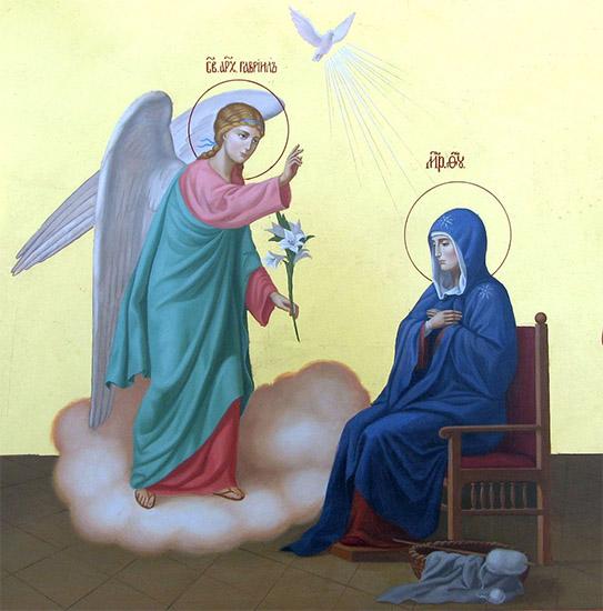Архангел Гавриил и Пресвятая Дева Мария