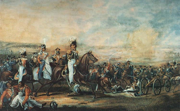 Атака кавалерийского корпуса генерала Уварова при Бородино