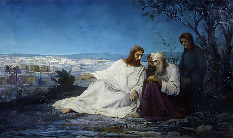 Беседа Христа с учениками на Елеонской горе