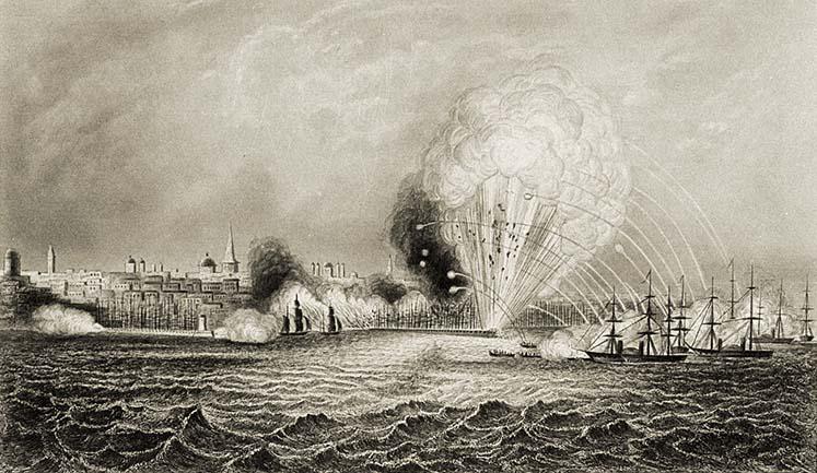 Бомбардировка города Одессы