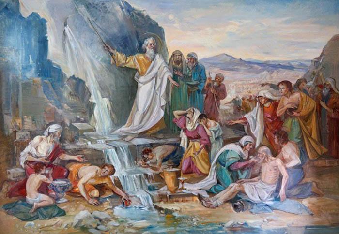 Чудо Моисея о воде из скалы