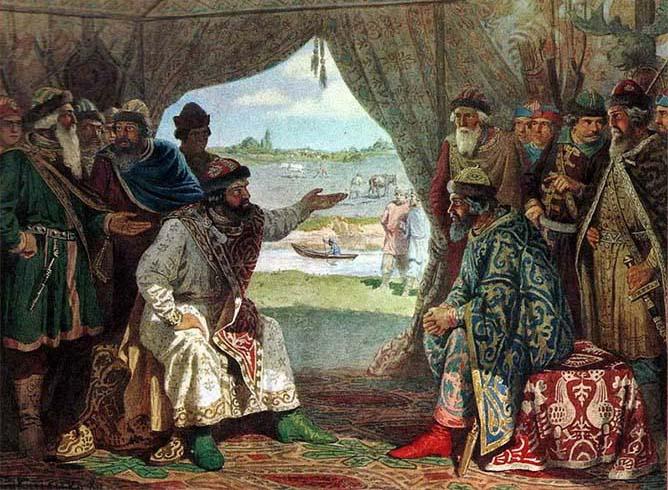 Долобский съезд князей — свидание князя Владимира Мономаха с князем Святополком
