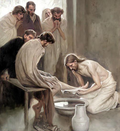 Христос омывает ноги Иуде