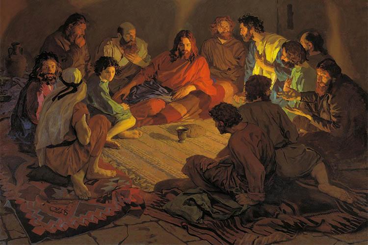 Христос с учениками