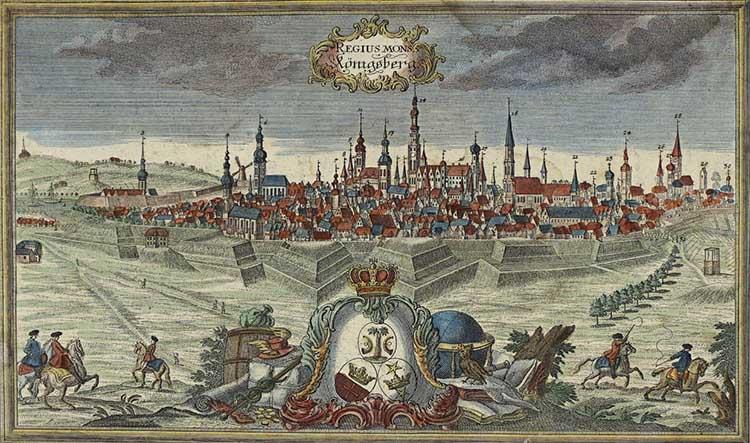 Кёнигсберг в конце XVII века