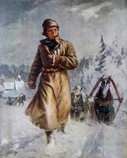 Ломоносов идет в Москву
