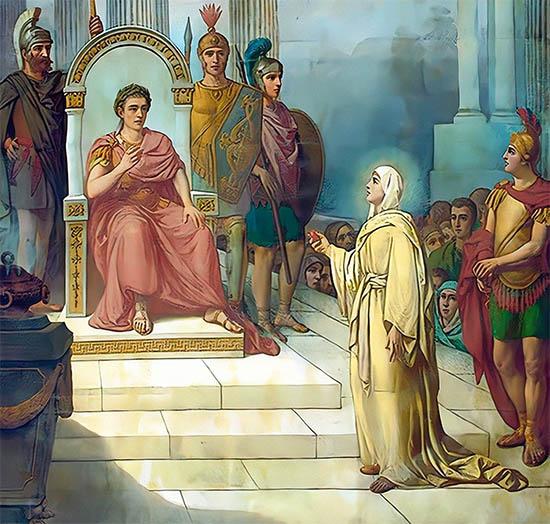 Мария Магдалина и Император Тиберий