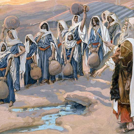 Моисей с народом в пустыне