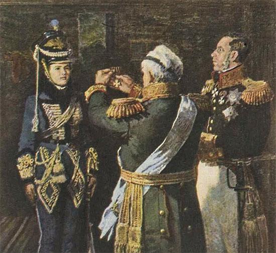 Награждение Кутузовым кавалерист-девицы