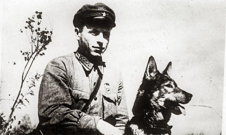 Никита Карацупа и собака Ингус
