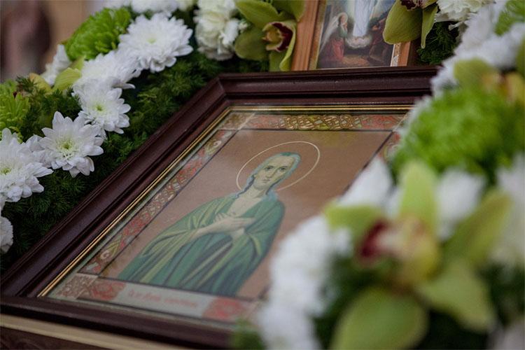 Образ преподобной Марии Египетской в храме