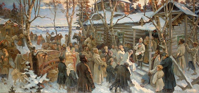 Отъезд Суворова из села Кончанского в поход 1799 года