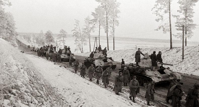 Передвижение советских войск