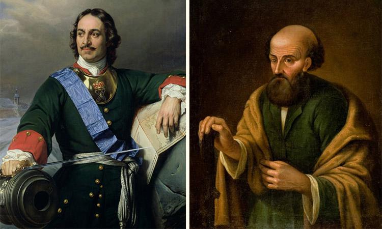 Петр I и Никита Демидов