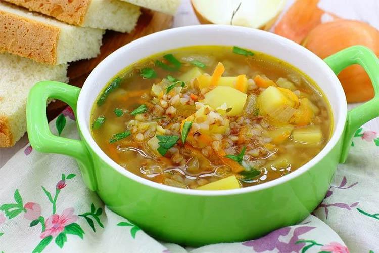 Постный суп с крупой
