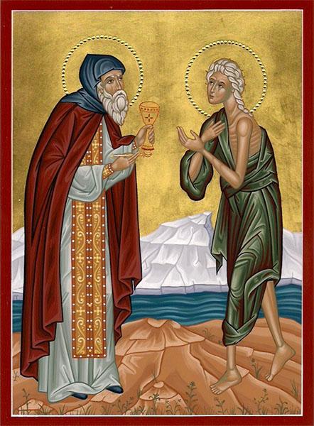 Преподобный Зосима и преподобная Мария Египетская