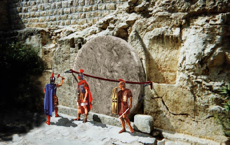 Солдаты у Гроба Господня
