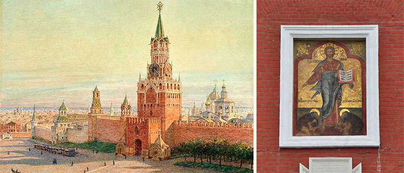 Спасская (Фроловская) башня Московского Кремля и образ Спаса Смоленского