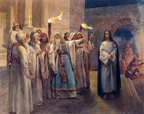 Суд над Христом у первосвященника