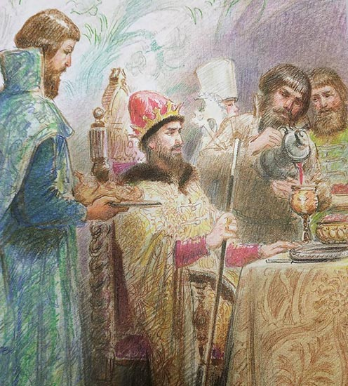 Царь за столом