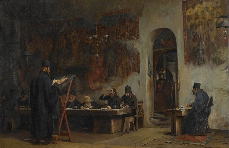 Трапеза у монахов